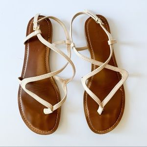 EXPRESS Strappy Crossover Sandals